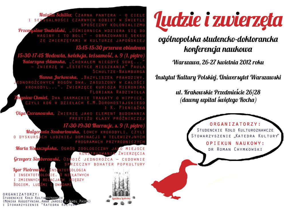 """Konferencja """"Ludzie i zwierzęta"""" - AnimalStudies.pl"""