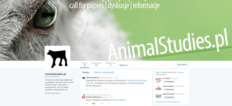 AnimalStudies.pl - Twitter