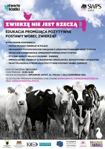 """Konferencja """"Zwierzę nie jest rzeczą"""" (Sopot, 28.11.2014 r.) - AnimalStudies.pl"""