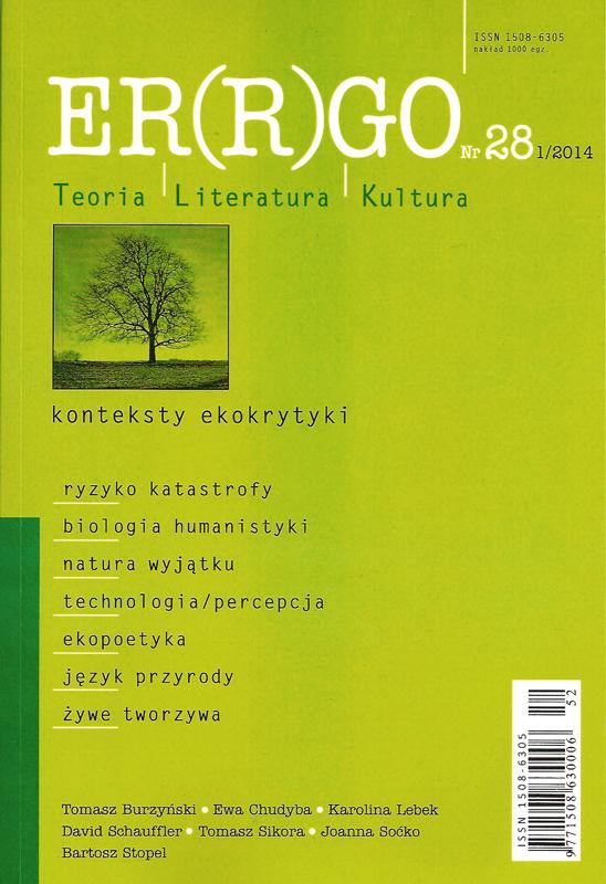 ER(R)GO - Konteksty ekokrytyki - Nr 28(1)/2014 - AnimalStudies.pl